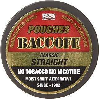 BaccOff, Original Straight Pouches, Premium Tobacco Free, Nicotine Free Snuff Alternative (1 Can)