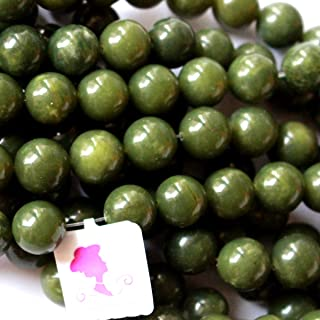 Natural Color Canada Nephire jade Round Gemstone Jewelry Making Loose Beads (12mm)