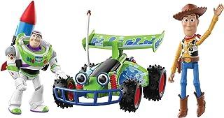 بسته 2 شکل ماتل دیزنی و داستان اسباب بازی پیکسار با وسایل نقلیه فشرده ، شخصیت های فیلم Buzz