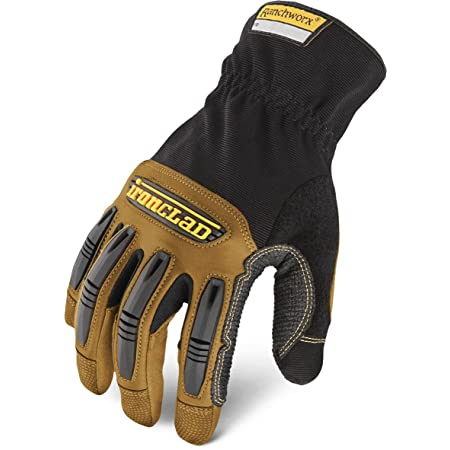 Ironclad Ranchworx Work Gloves RWG2, Premier Leather Work Glove, Performance Fit, Durable, Machine Washable, (1 Pair), Large - RWG2-04-L