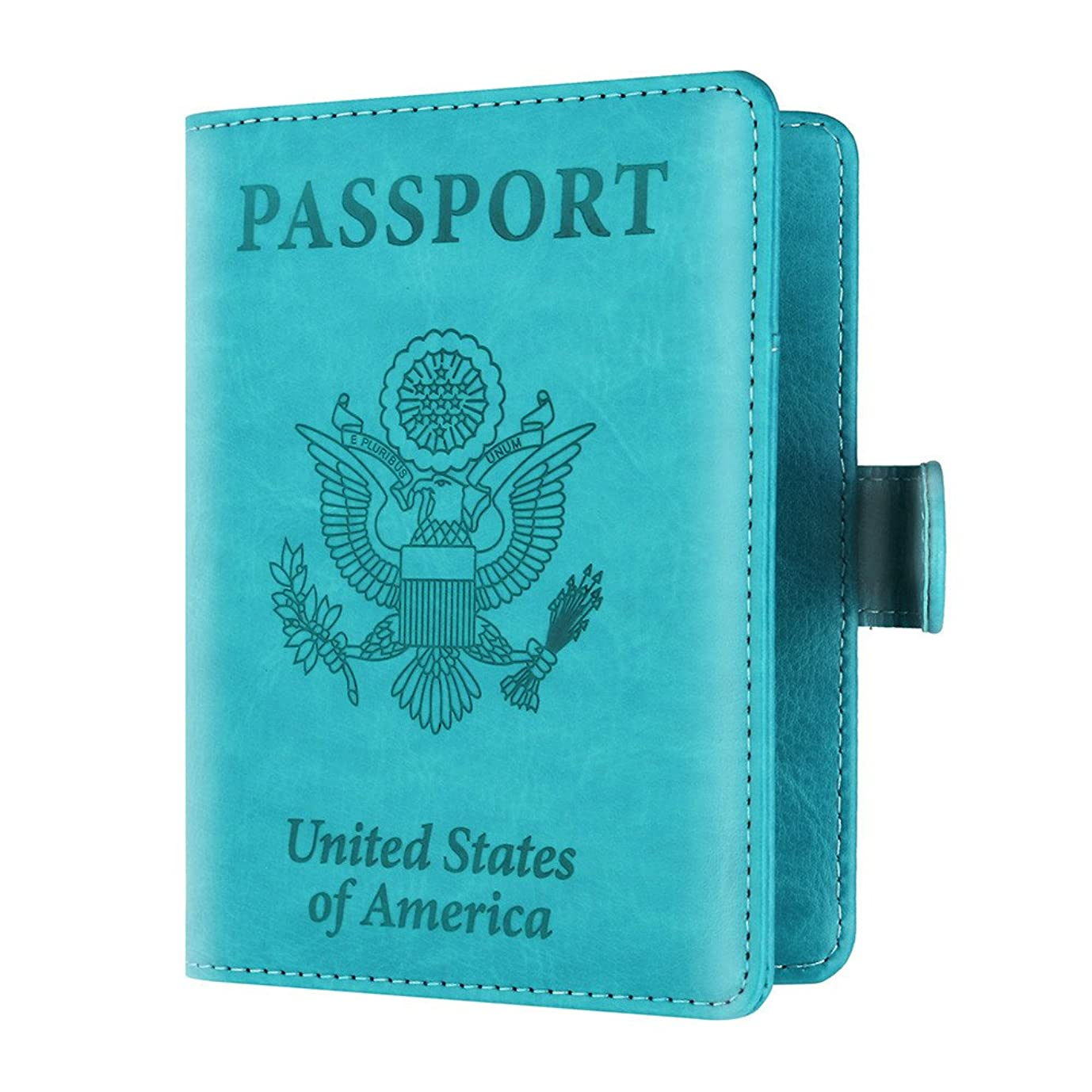 免疫する触手チャーターパスポートケース カバー 単色 掛け金 反磁性証明書 カードバッグ パスポートパッケージ