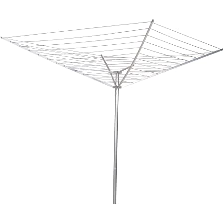 40m DiscountSeller Heavy Duty 4 Arm Outdoor Rotary Clothes Airer//Dryer Washing Line w//Metal Ground Spike /& Water Proof Cover