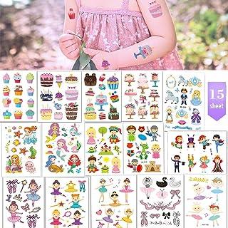 Tattoo Kinder, LOOHAOC Mädchen Combo Tattoos Wasserdicht Se