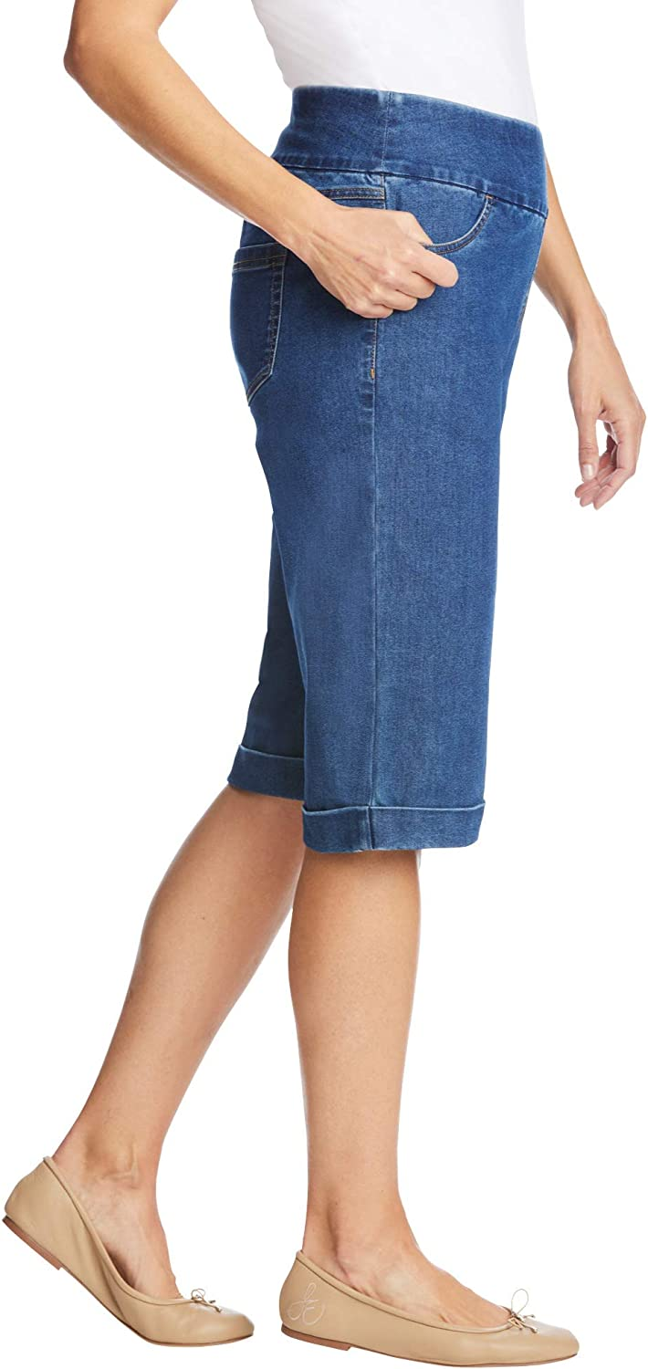 Woman Within Women's Plus Size Pull-On Denim Shorts