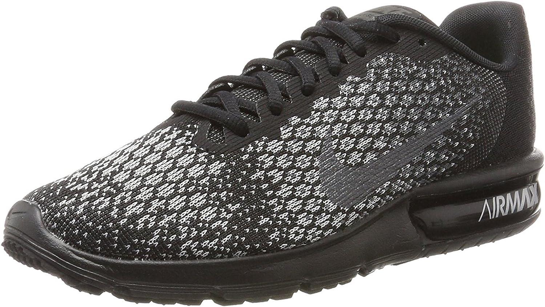 Nike Men's Air Max Sequent 2 Gym Shoes - Black, UK : Amazon.de ...