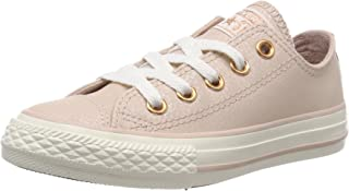 Chuck Taylor All Star Leather Ox Particle Beige Leather Youth Trainers Shoes