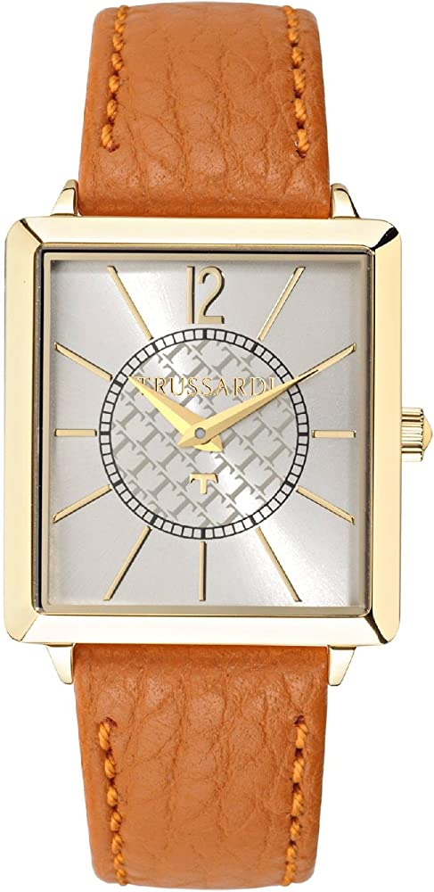 Trussardi, orologio per donna,cassa in acciaio e cinturino in pelle R2451119505