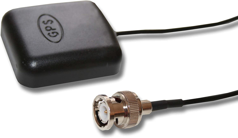 vhbw Antena GPS Compatible con Garmin StreetPilot GPS, III Deluxe, III GPS, navegador - Base magnética, con conexión BNC, 5 m