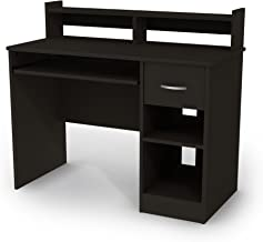South Shore 7270076 Axess Desk with Keyboard Tray, Black