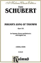 miriam من أغنية من Triumph: satb مع مقاس صغير بمفرده (orch.) (إصدار اللغة باللغة الإنجليزية) (إصدار kalmus)