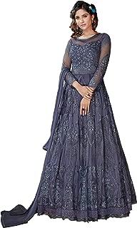 Aadhya Creation Gray Heavy Anarkali gown With Dupatta for Women (KV02G022_Gray_FreeSize)