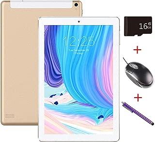 Mirzebo Androidタブレット10.1インチタッチスクリーンWi-Fiタブレット、1GB RAM、16GBストレージ、Bluetooth、GPS、USB、IPS画面、デュアルSIMカードスロット、デュアルカメラ、マウスでタブレットのロックを解除 (金)