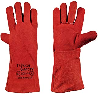 Red Welding Gloves (heavy Duty) - Toughsafety