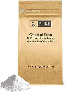 Cream of Tartar (5 lb.), Highest Purity, Baking Additive, Non-GMO, Gluten-Free, All-Natural, DIY Bath Bombs, Mess Free