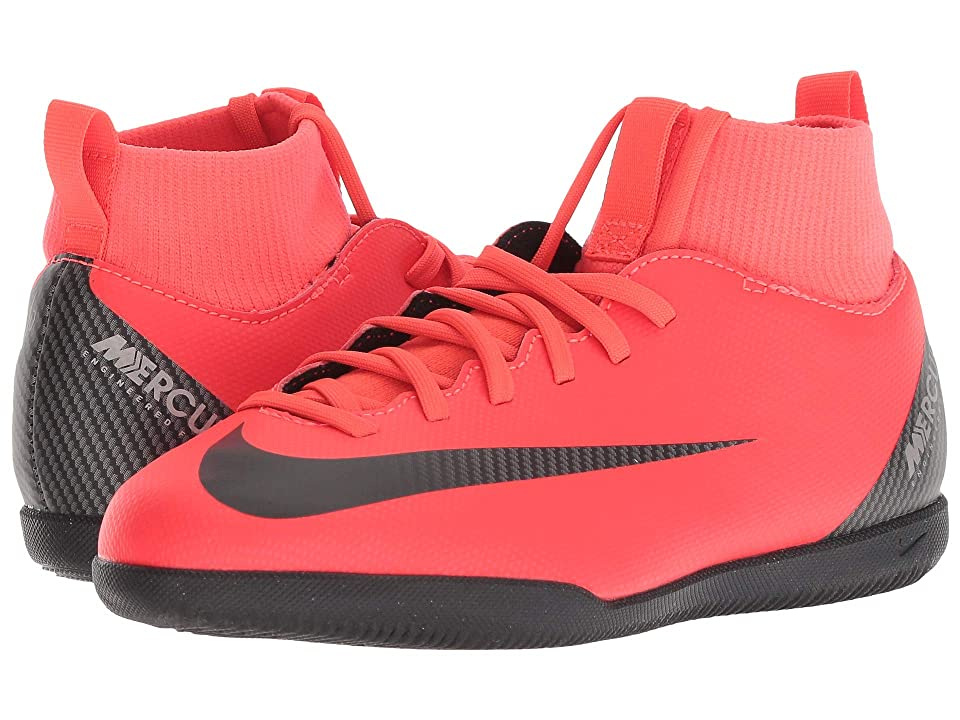 Nike Kids SuperflyX 6 Club CR7 IC Soccer (Little Kid/Big Kid) (Bright Crimson/Black/Chrome) Kids Shoes