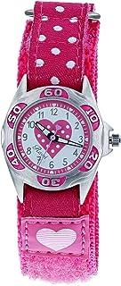 Ravel Time Teacher Girls Hot Pink Heart Easy Fasten Watch + Telling Time Award