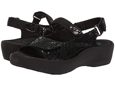 Wolky Jewel (Black Cobra Suede) Women