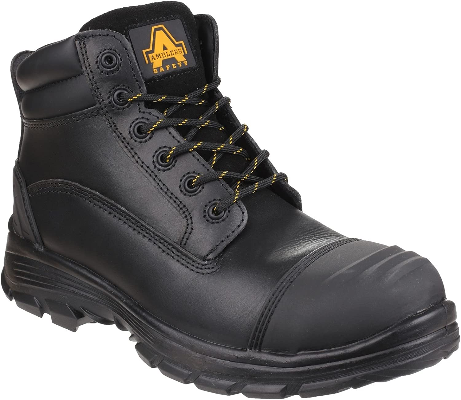 Amblers Safety Mens AS201 QUANTOK S3 PU Rubber Safety Boot Black Size UK 8 EU 42
