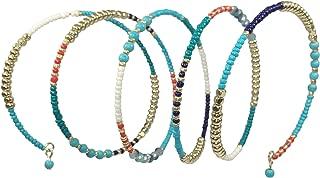 Gypsy Jewels Multi Color Seed Bead Boho Bohemian Style Wrap Around Bracelet
