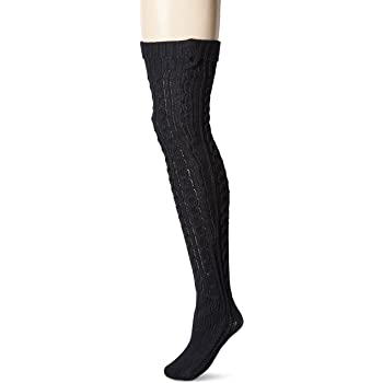 Muk Luks Women's 28'' Knee High Cable Socks