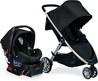 Britax B-Lively Travel System with B-Safe 35 Infant Car Seat, Raven - Birth to 55 Pounds