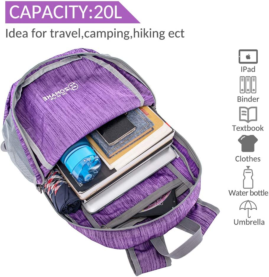 2020 Version ZOMAKE Ultra Lightweight Packable Backpack Small Hiking Daypack