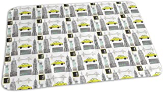 New York City Icons NYC Favorites Linear,Baby,Portable Reusable,Changing Pad Mat 19.7x275 inch - Baby Reusable Diaper Waterproof Changing Pad Portable