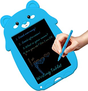 JRD&BS WINL Colorful LCD Writing Pads for Kids Toys for 5-16 Years Old Girls,Boys,8.5 inch Drawing Board with Lock Erase Button for Adults at School or Office as Arithmetic,Mark Notes,Charts,Blue XDC
