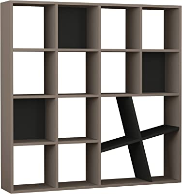 Ada Home D/écor DCRB2147 Beethoven Bookcase 35.04 x 46.3 x 11.81 Anthracite /&