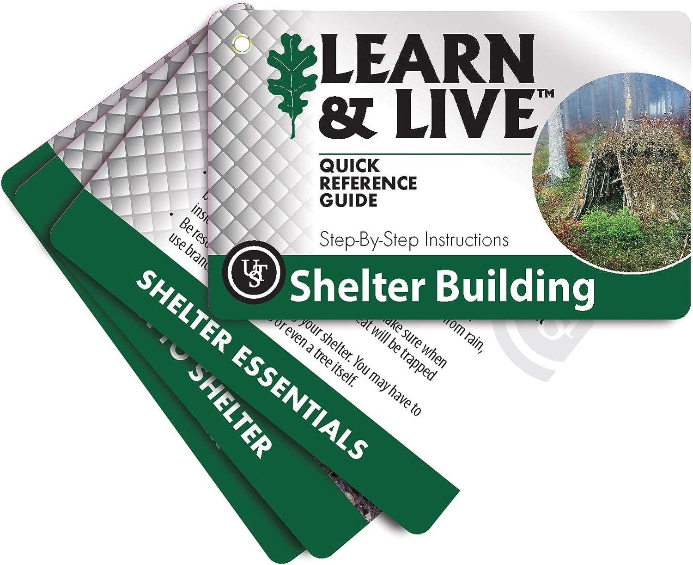 Impermeable UST Learn /& Live Juego de Tarjetas educativas con dise/ño Duradero Compacto y Habilidades Esenciales al Aire Libre para Senderismo Camping y Supervivencia al Aire Libre