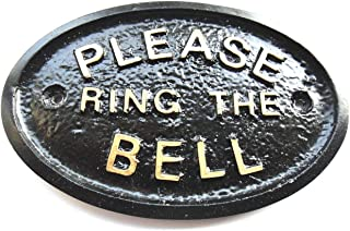 Please Ring The Bell House/Garden Wall Plaque in (Black)