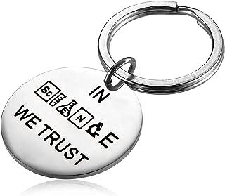PLITI Scientist Chemist Keychain in Science We Trust Science Lover Laboratory Gifts