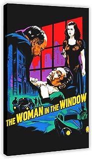 Kvinnan i fönstret retro klassisk film 2 canvas affisch väggkonst dekor tryck bild målningar för vardagsrum sovrum dekorat...