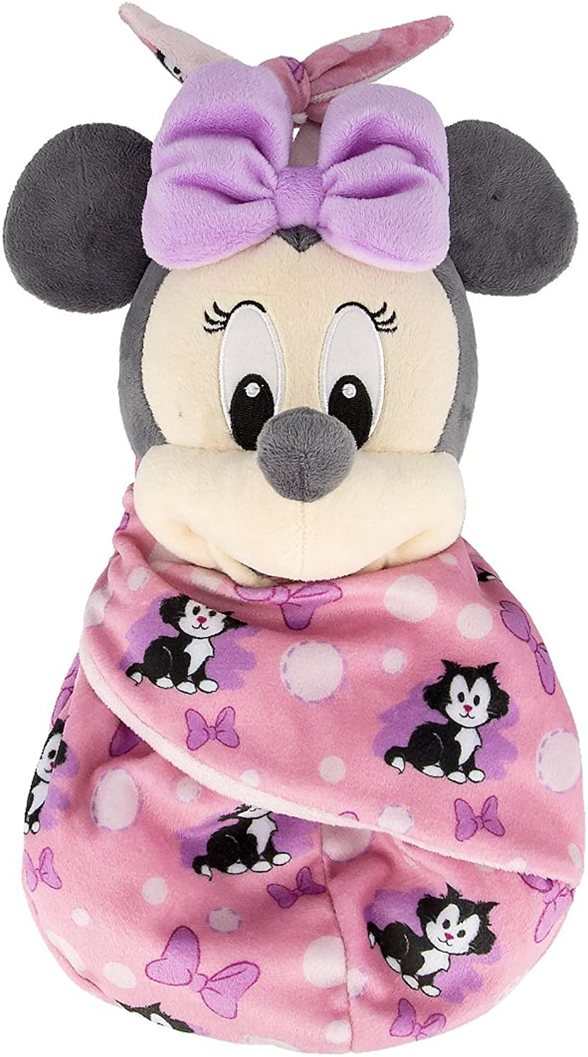 Disney Parks Baby Minnie Mouse in a a a Pouch Blanket Plush Doll