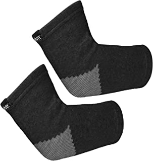 Vive Elbow Sleeve (Pair) - Bamboo Charcoal Compression Support Brace for Tendonitis Prevention, Recovery, Joint Pain Relief, Golfers, Tennis, Weightlifting, Basketball, Sports Stabilizer - Men, Women