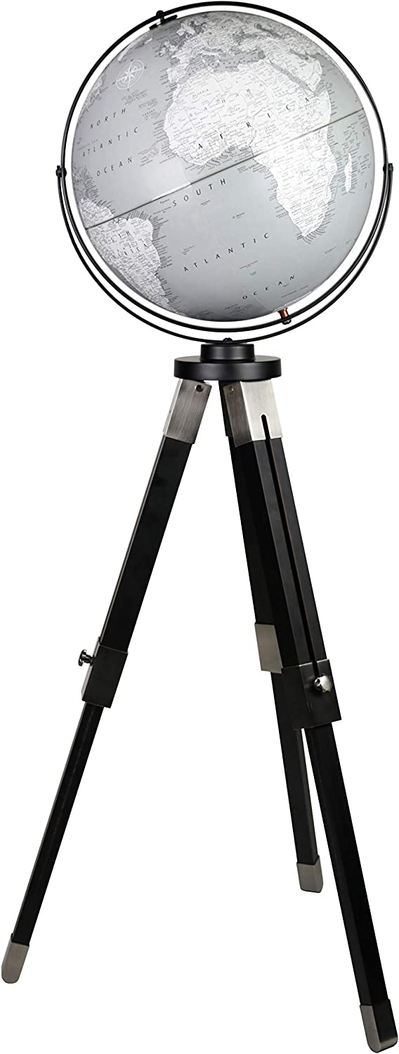 Replogle Willston - Gray Globe with Stand Black Metal Ad Challenge the lowest price Max 79% OFF of Japan Tripod