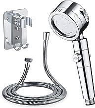 Qoosea Filter Douchekop met slanghouder beugel PP katoenen filterpatroon Hogedruk Handheld Douchekop Spray met 3 modi Wate...