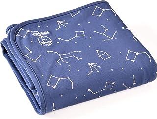 """Woolino Toddler Blanket, Merino Wool, 4 Season Dream Blanket, 52.5"""" x 40"""", Nightsky"""