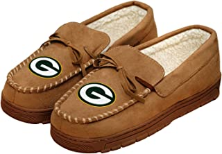 12fdd89e384 FREE Shipping on eligible orders. Forever Collectibles NFL Football Mens  Team Logo Moccasin Slippers Shoe - Pick Team