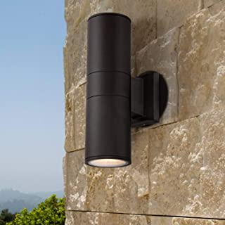 Ellis Modern Outdoor Wall Light Fixture Black 11 3/4