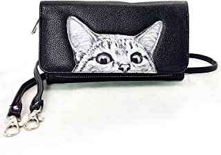 Peeking Cats Wallet in Vinyl