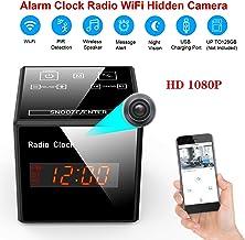 $99 » Hidden Cam Spy Camera - Alarm Clock FM Radio - 1080P Nanny Cams Wireless with Phone App - Bluetooth Speaker & USB Charging Ports - Night Vision & Motion Detection - Storage 128GB