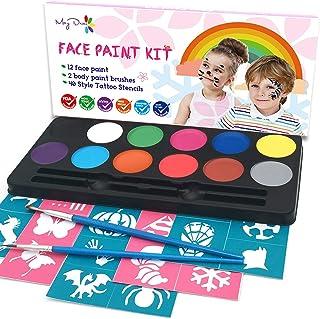 Maydear Kit de pintura facial para niños con una paleta de