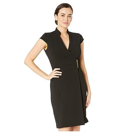 Calvin Klein Cap Sleeve Sheath Dress W/Side Tab (Black) Women