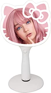 Impressions Hello Kitty LED Handheld Mirror, Makeup Mirror with Standing Base and Adjustable Brightness