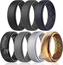 Egnaro Silicone Wedding Ring for Men, Breathable Mens' Rubber Wedding Bands, Size 8..
