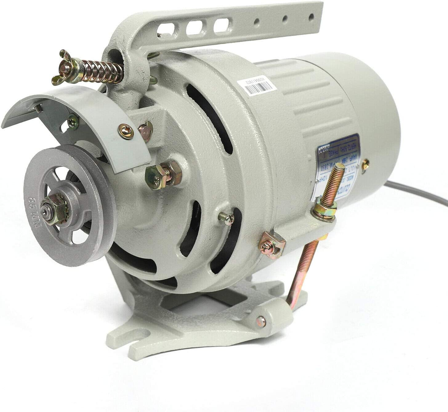 Motor industrial para máquina de coser – 400 W motor para máquina de coser con una protección de correa, ajustable, ahorro de energía, para máquina de coser industrial, CA