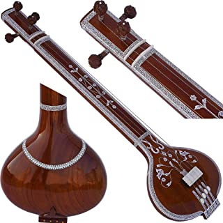 Tanpura, Tambura, Tanpuri, 4 Main String, Tun Wood, Beautiful Craft Work, Sweet Sound, Natural Wood Colour, Comes with Gig Bag, Extra Strings Best for Yoga, Bhajan, Kirtan, Mantra, Chant, Raaga, Drone