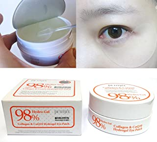 [PETITFEE] Collagen & Co Q10 Hydrogel Eye Patch 60 pcs(30 pairs) / wrinkles,moisture/Korean Cosmetics