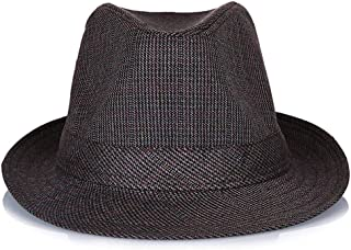 SHENTIANWEI Hat Men's Middle-Aged Spring and Summer England, Hong Kong and Macao Sunshade Outdoor Sun Hat (Color : Coffee, Size : 59cm)